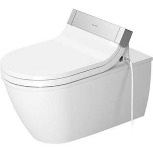 Duravit Darling New Dual-Flush Elongated Wall Mounted Toilet with Glazed Surface (Seat Not Included)