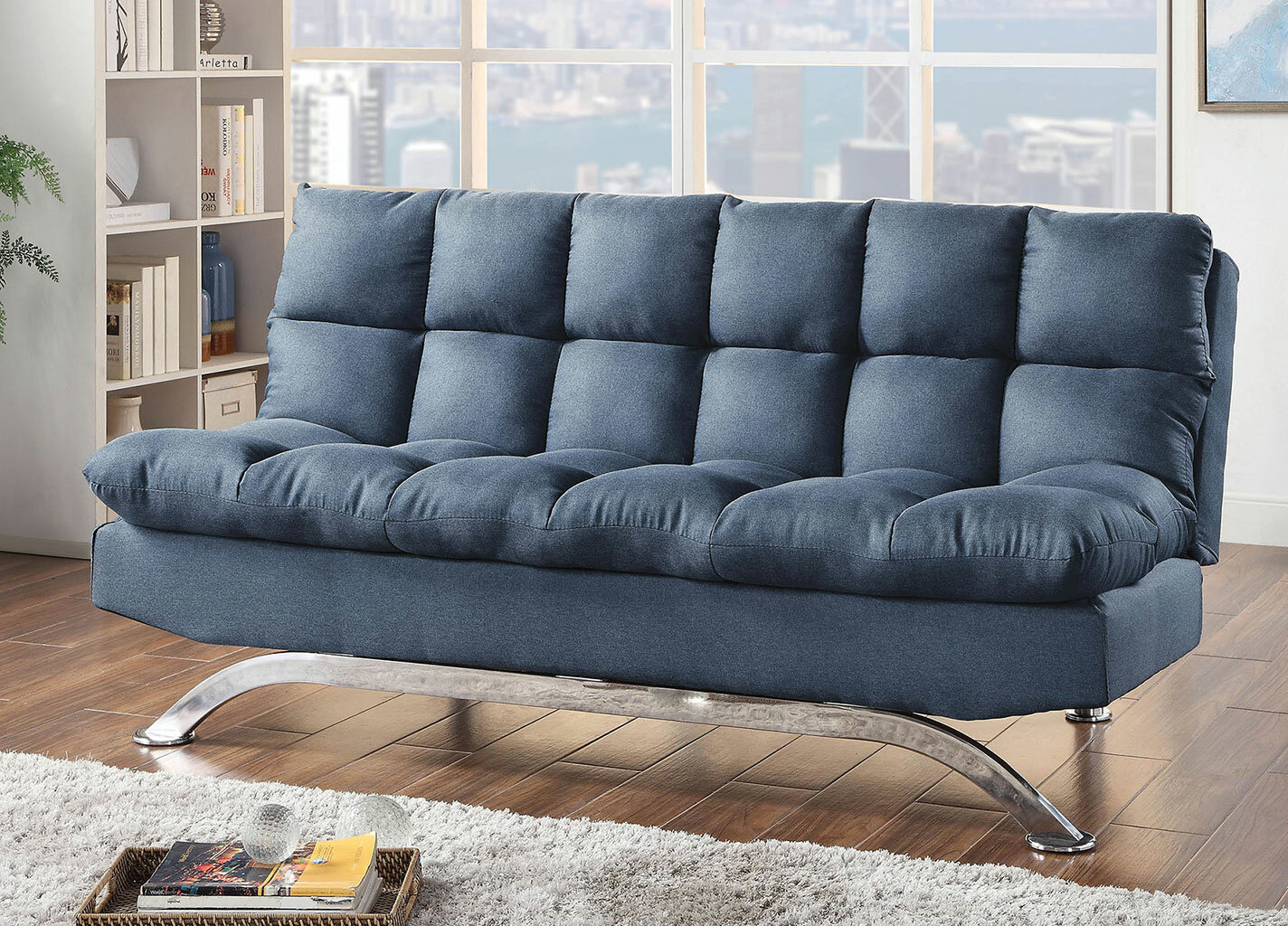 Ivy Bronx Newfolden Twin Or Smaller Tufted Back Convertible Sofa Wayfair