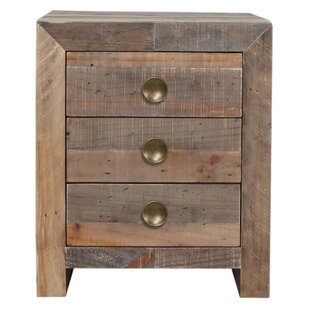 Mistana Abbey 3 Drawer Nightstand
