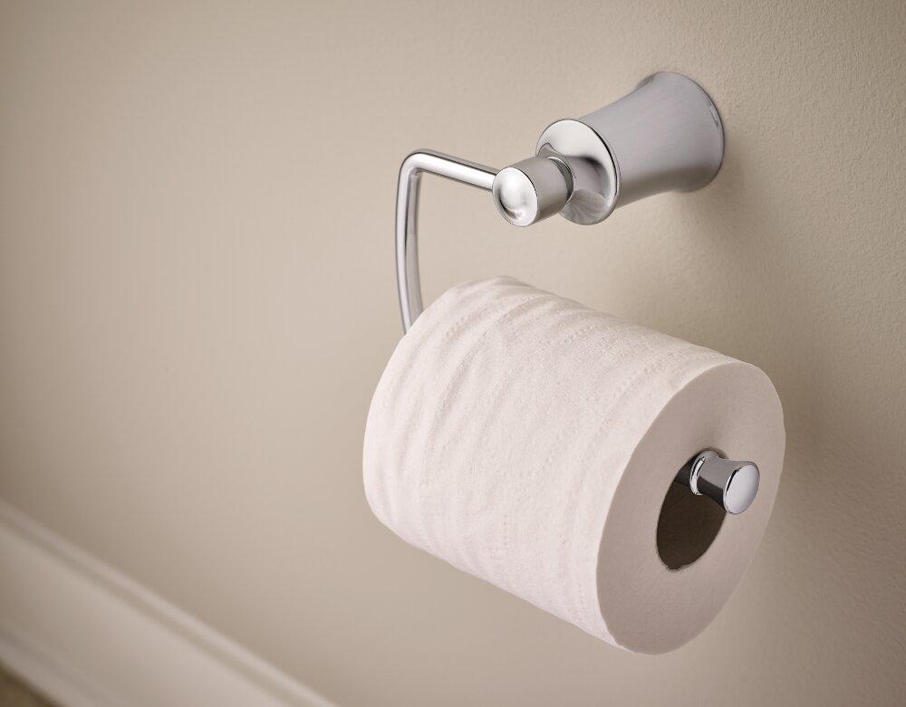 In Wall Toilet Paper Holder moen dartmoor wall mount toilet paper holder & reviews | wayfair