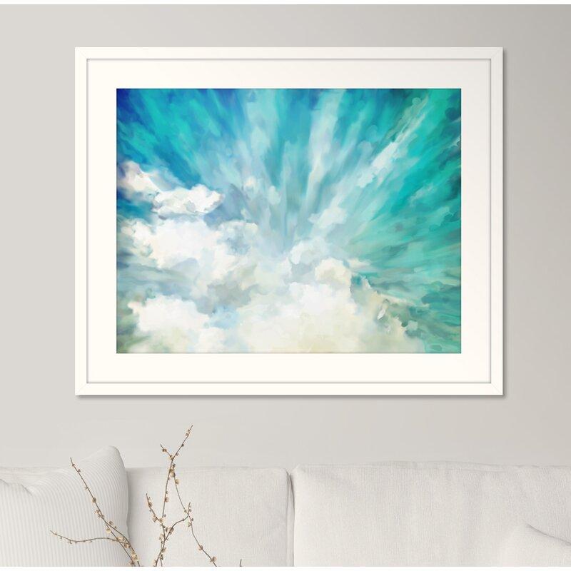 'Cloudburst' Framed Watercolor Painting Print