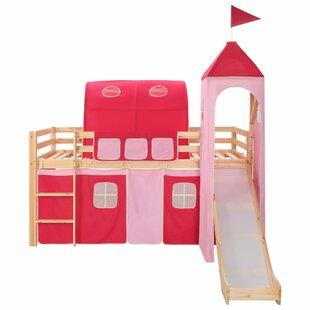 Hardyston European Single Mid Sleeper Bed With Curtain By Zoomie Kids