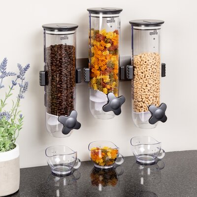 Triple Canister Cereal Dispenser