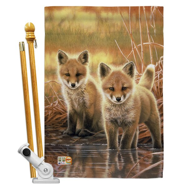 Breeze Decor Foxes 2 Sided Polyester 40 X 28 In Flag Set Wayfair