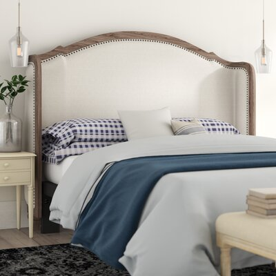 Abbe Upholstered Wingback Headboard Size: King by Birch Lane Heritage