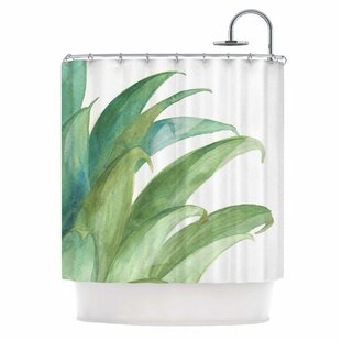 'Botanical Vibes 03' Single Shower Curtain by East Urban Home Best