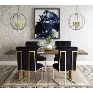 Alvaro 5 Piece Dining Table Set by Everly Quinn