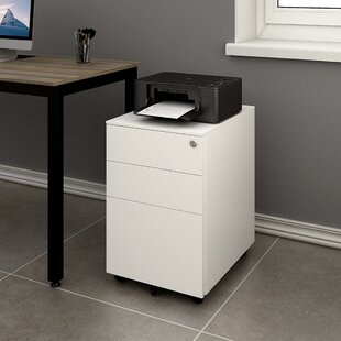 Hambly 3 Drawer Mobile Vertical Filing Cabinet