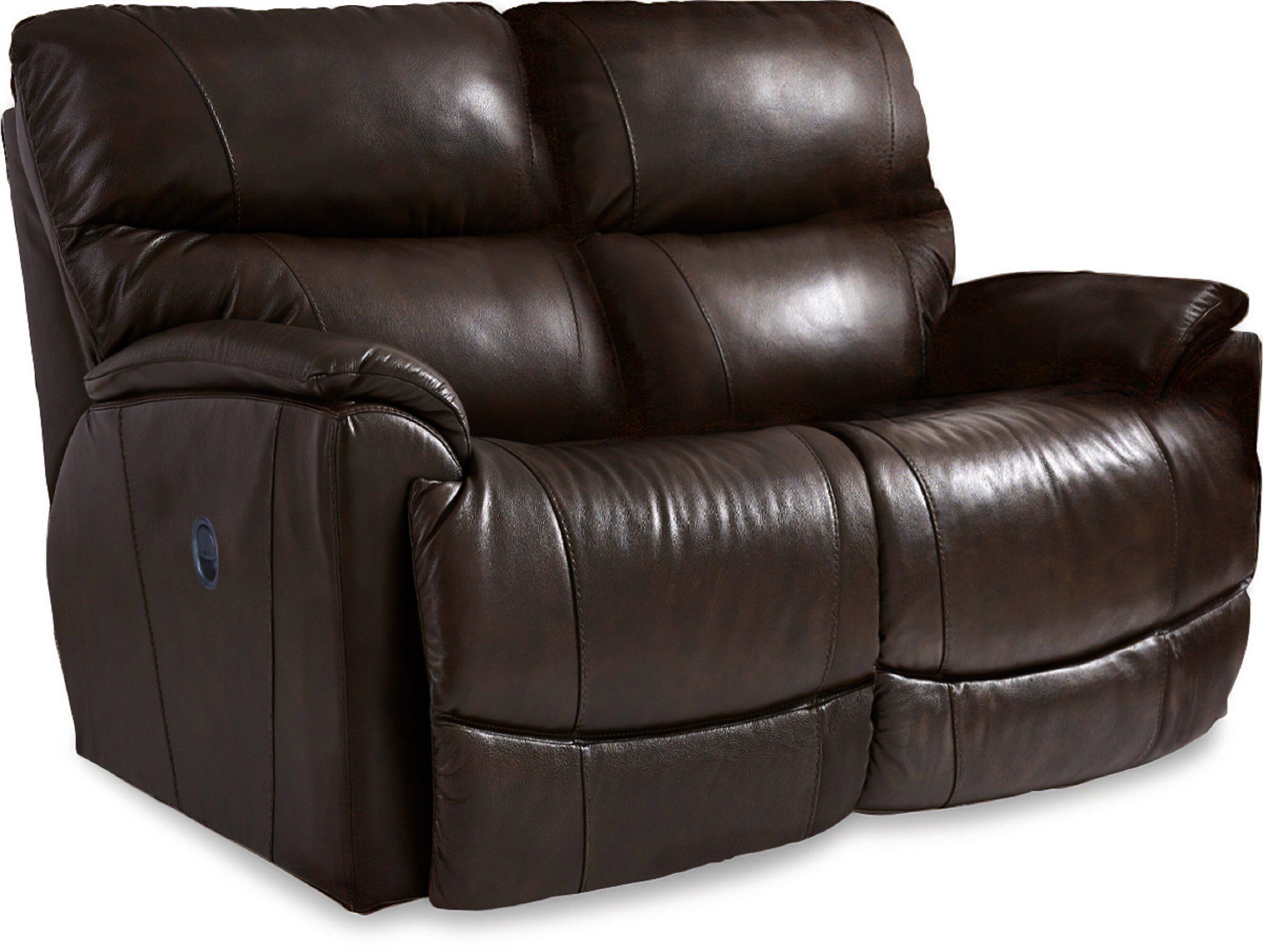 La Z Boy Trouper 62 Wide Leather Match Pillow Top Arm Reclining Loveseat Wayfair