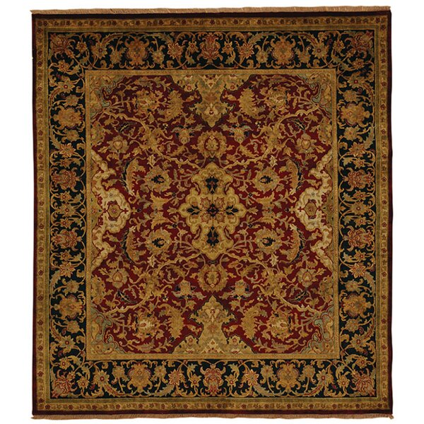 Exquisite Rugs Polonaise Hand Knotted Wool Burgundy Copper Area Rug Perigold