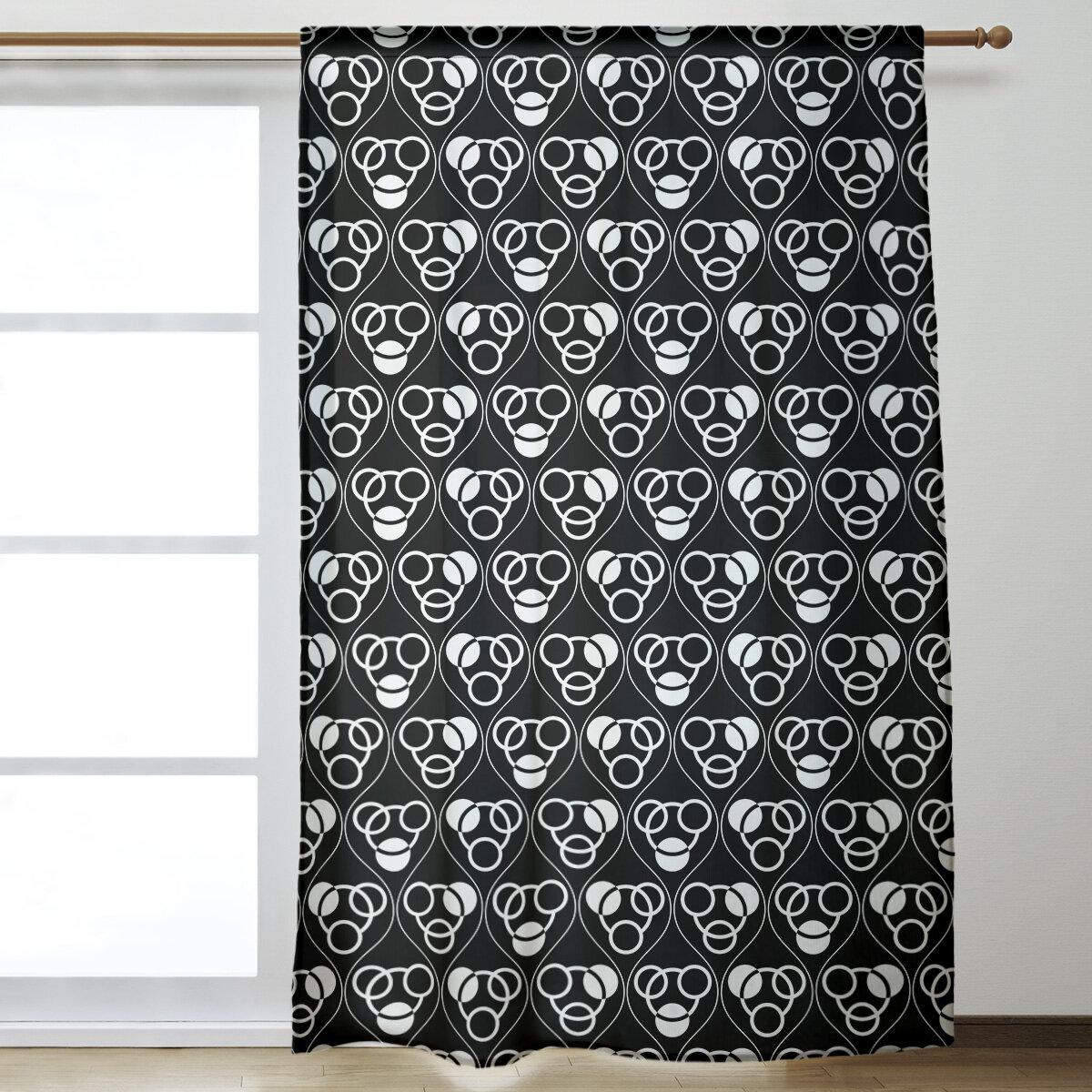 Brayden Studio Classic Circles And Waves Geometric Room Darkening Thermal Rod Pocket Single Curtain Panel Wayfair