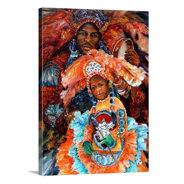 'Mardi Gras Indians' by Diane Millsap Painting Print