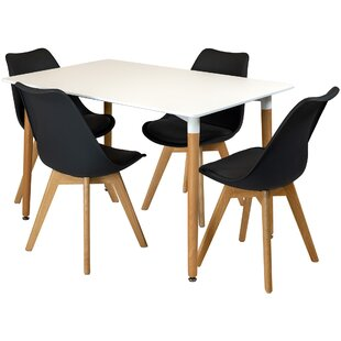 Artin Dining Set With 4 Chairs