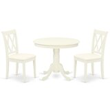 Souleymane 3 Piece Solid Wood Dining Set by Winston Porter