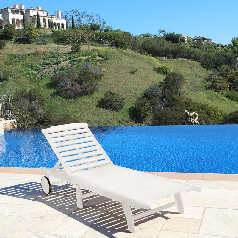 Eider & Ivory Summerville Outdoor Reclining Chaise Lounge