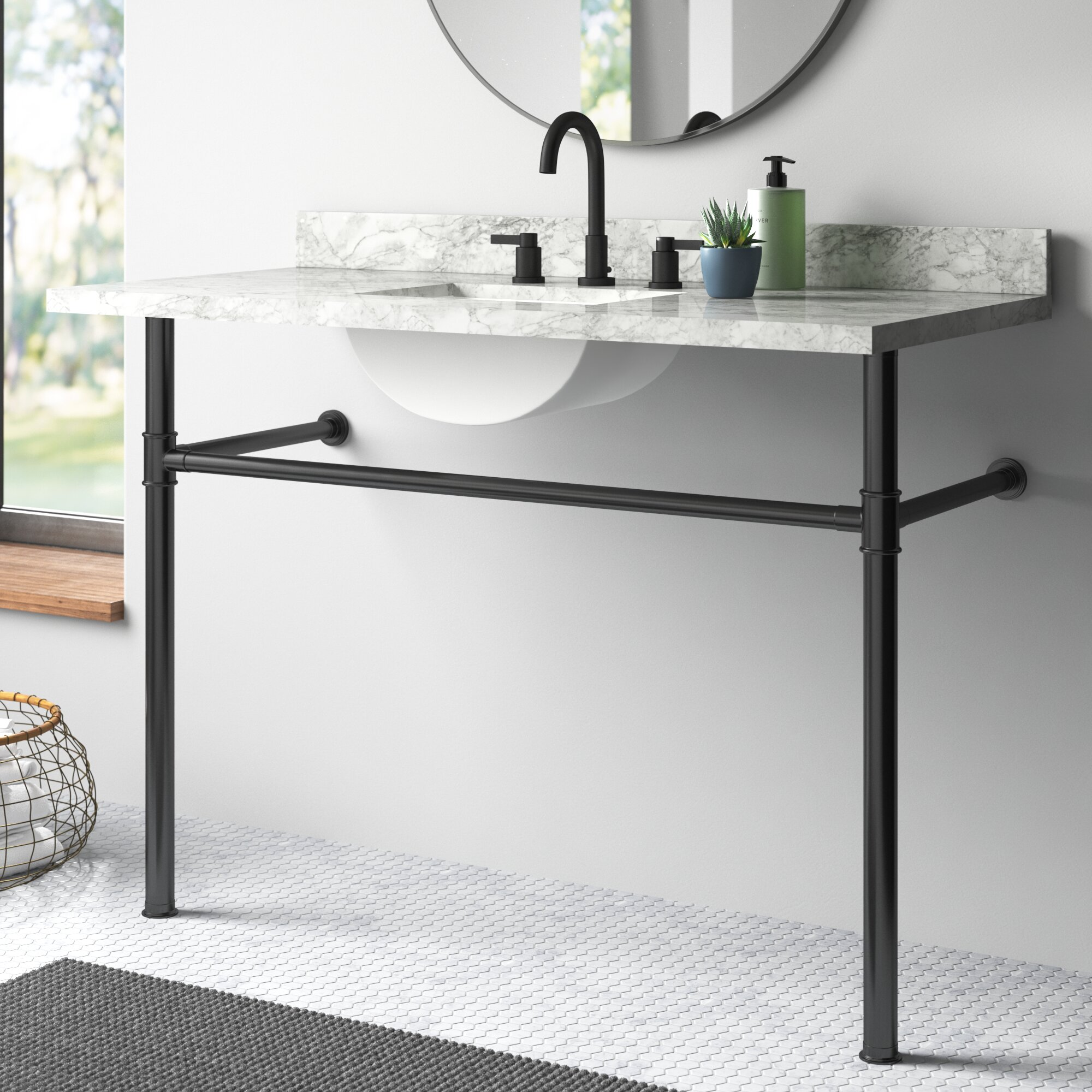 Kingston Brass Imperial Stainless Steel 41 Single Bathroom Vanity Base Only Reviews Wayfair