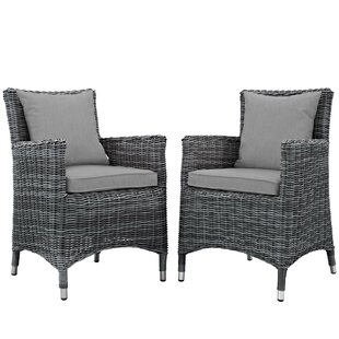 Alaia 2 Piece Rattan Sunbrella Armchair with Cushions