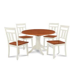 Chesterton 5 Piece Wood Dining Set by Alcott Hill