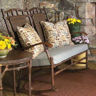 Woodard Chatham Rocking Bench with Cushions