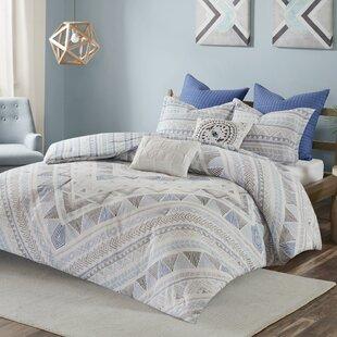 Ivy Bronx Eisenbarth 100% Cotton 7 Piece Reversible Comforter Set