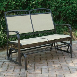 wayzata outdoor fabric glider bench