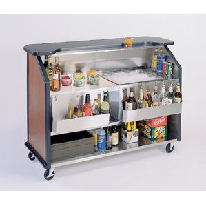 Portable Stainless Steel Beverage Kitchen Island with Laminate Top by Lakeside Manufacturing Compare Price