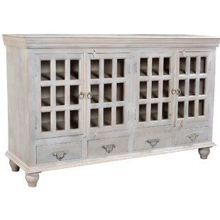 Maliyah 4 Drawer 4 Door Glass Sideboard