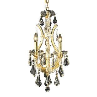 House of Hampton Hiott 4-Light Crystal Chandelier