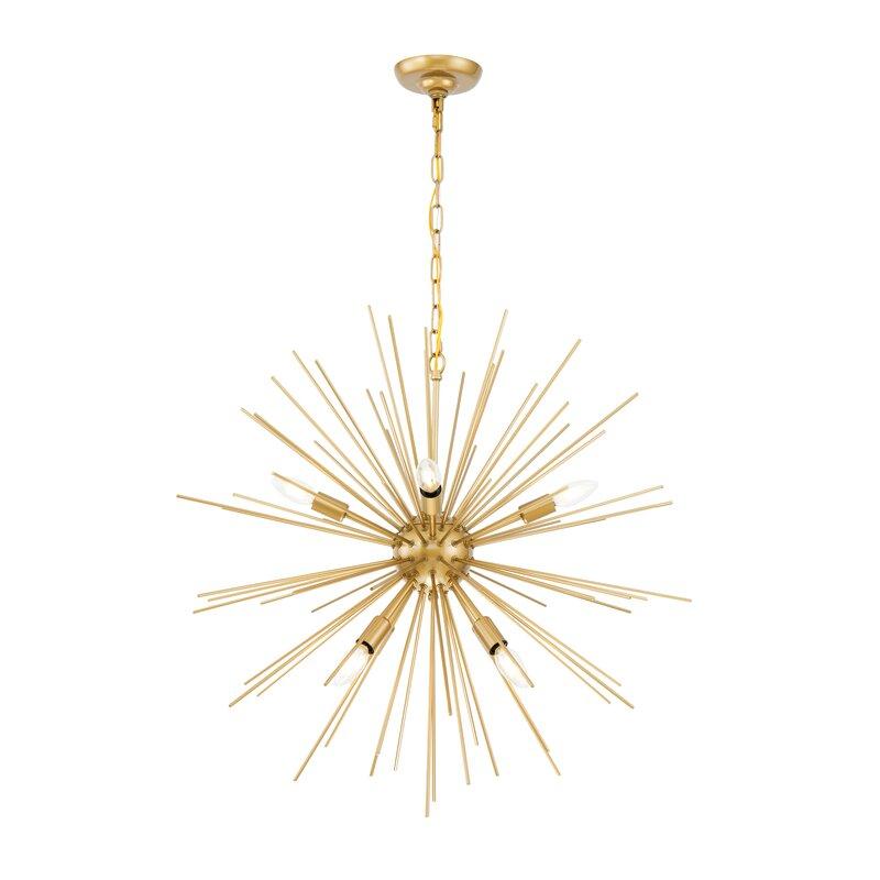 Vivan 8-Light Sputnik Chandelier. #sputnik #chandelier #midcentury #chic