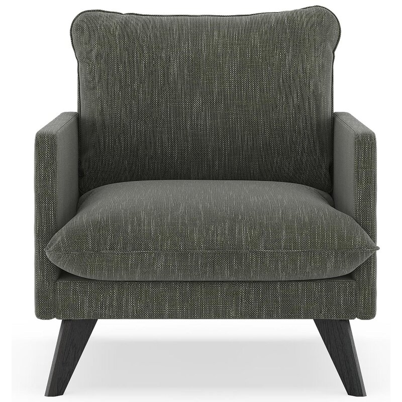 17 Stories  Dillingham Armchair Finish: Black, Upholstery: Spruce Gray
