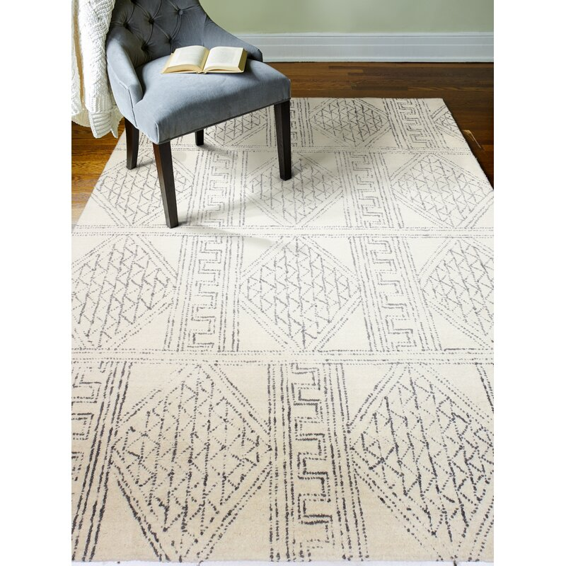 Kory Hand Tufted Wool Ivory Gray Indoor Area Rug