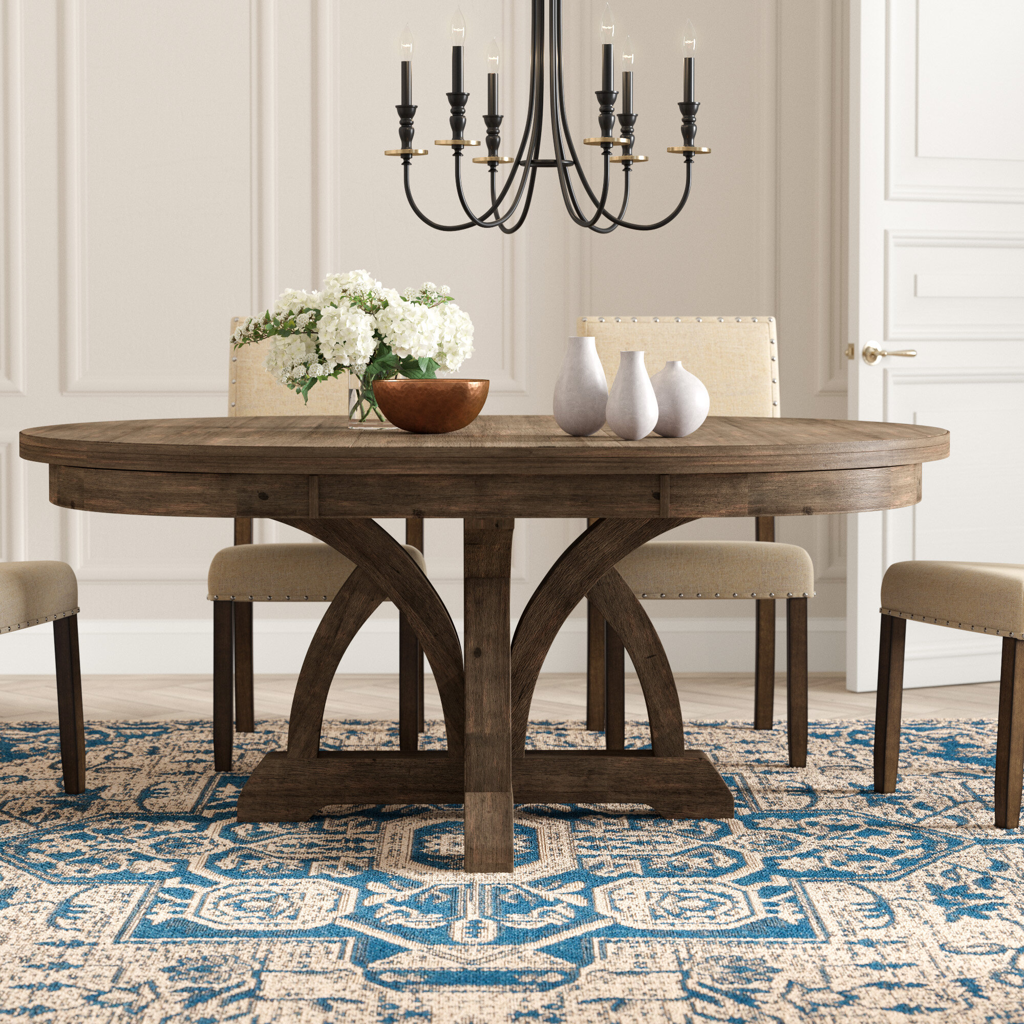 Extendable Round Kitchen & Dining Tables You\'ll Love in 2019 ...