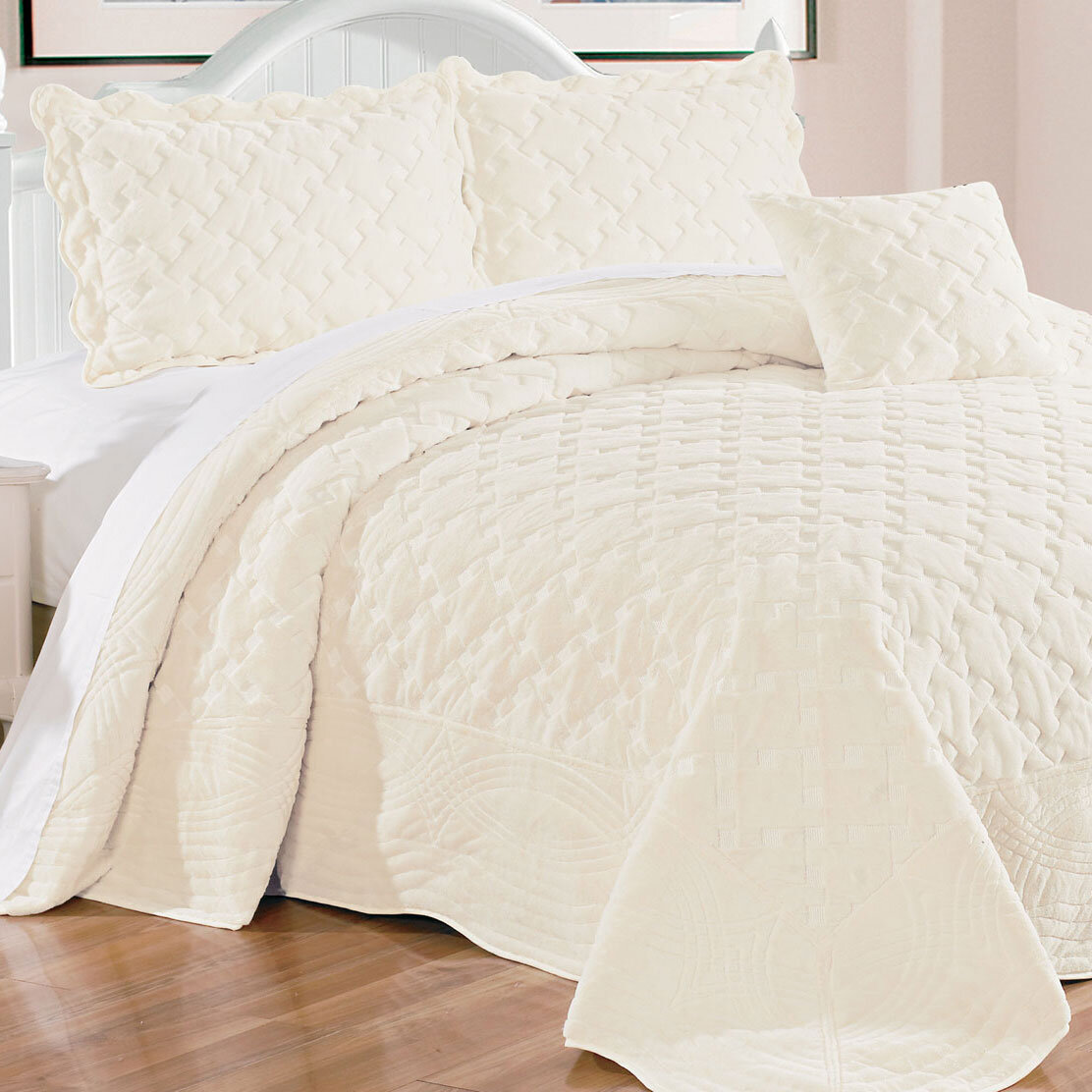 Ivory Cream Throw Blanket Quilts Coverlets Sets You Ll Love In 2021 Wayfair