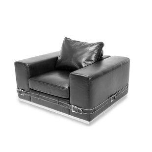 Mia Bella Ciras Leather Club Chair by Michael Amini