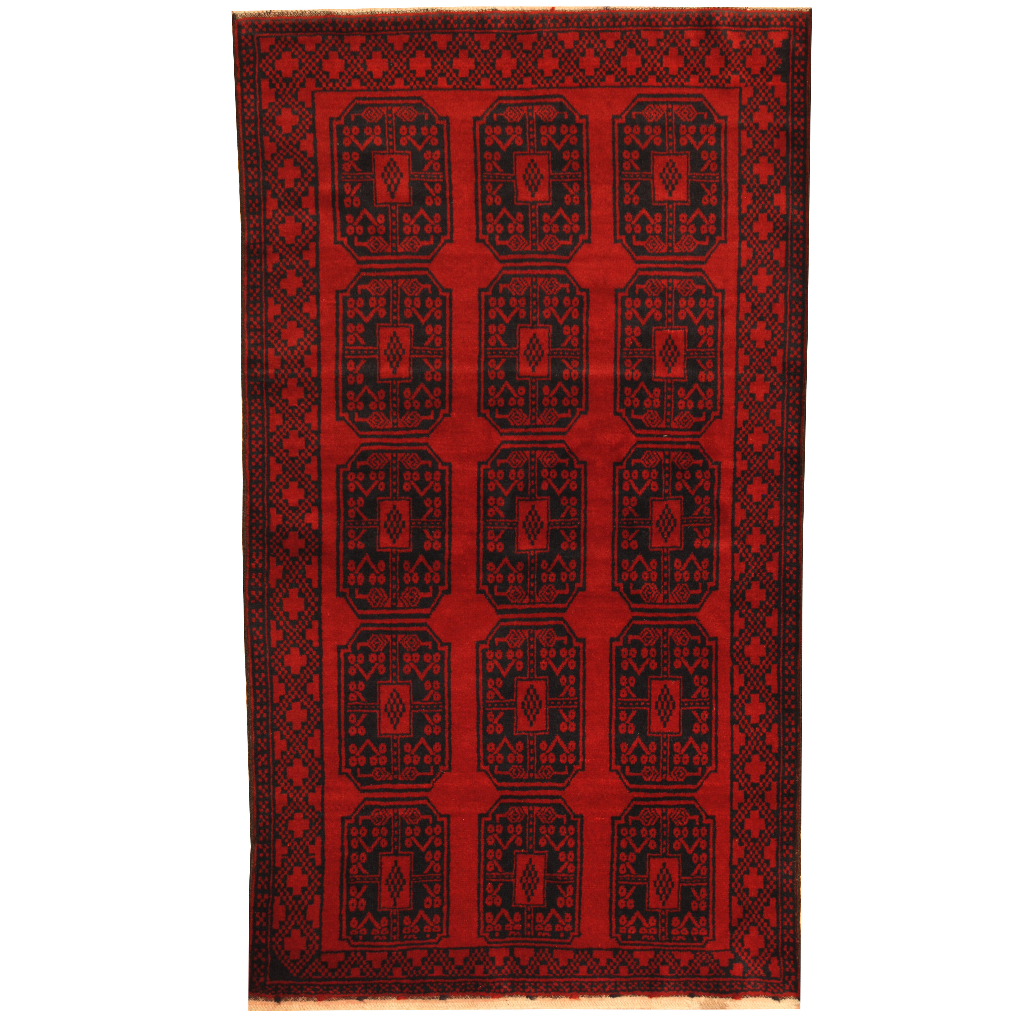 Isabelline Prentice Tribal Balouchi Hand Knotted Wool Red Navy Area Rug Wayfair