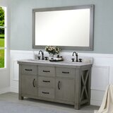 Sean 60 Double Bathroom Vanity Set with Mirror by Laurel Foundry Modern Farmhouse