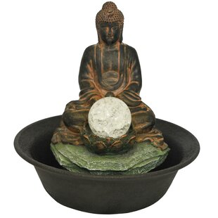 Toccoa Resin Buddha Fountain With Light By Sol 72 Outdoor