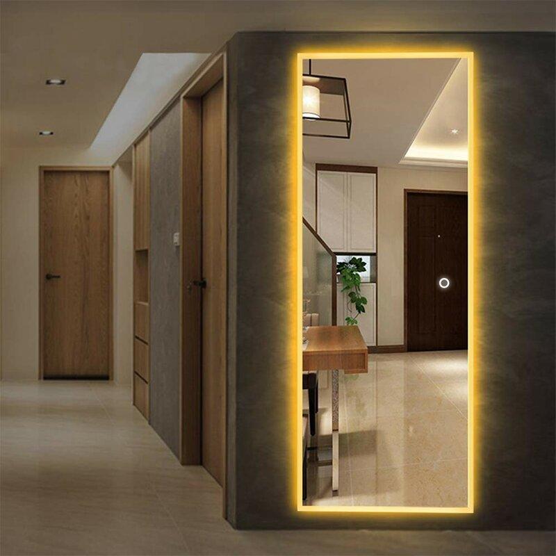 Orren Ellis Molloy LED Dimmable Frameless Lighted Full ...