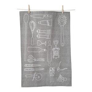 100% Cotton Kitchen Tools Tea Towel (Set of 2)