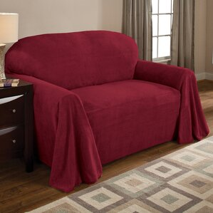 Fleece Box Cushion Loveseat Slipcover by Red Barrel Studio