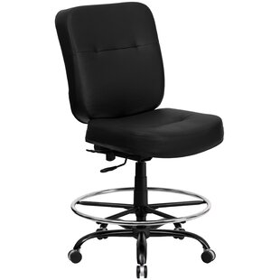 Laduke Genuine Leather Drafting Chair by Symple Stuff