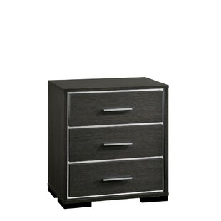 Campagna Wooden 3 Drawer Nightstand