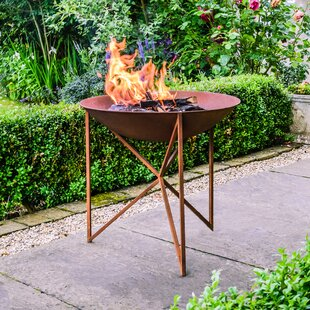 Breccan Iron Charcoal/Wood Burning Fire Pit By Freeport Park