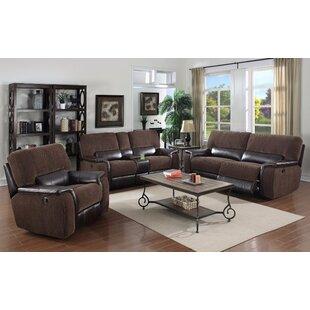 Micaela Reclining Leather Configurable Living Room Set