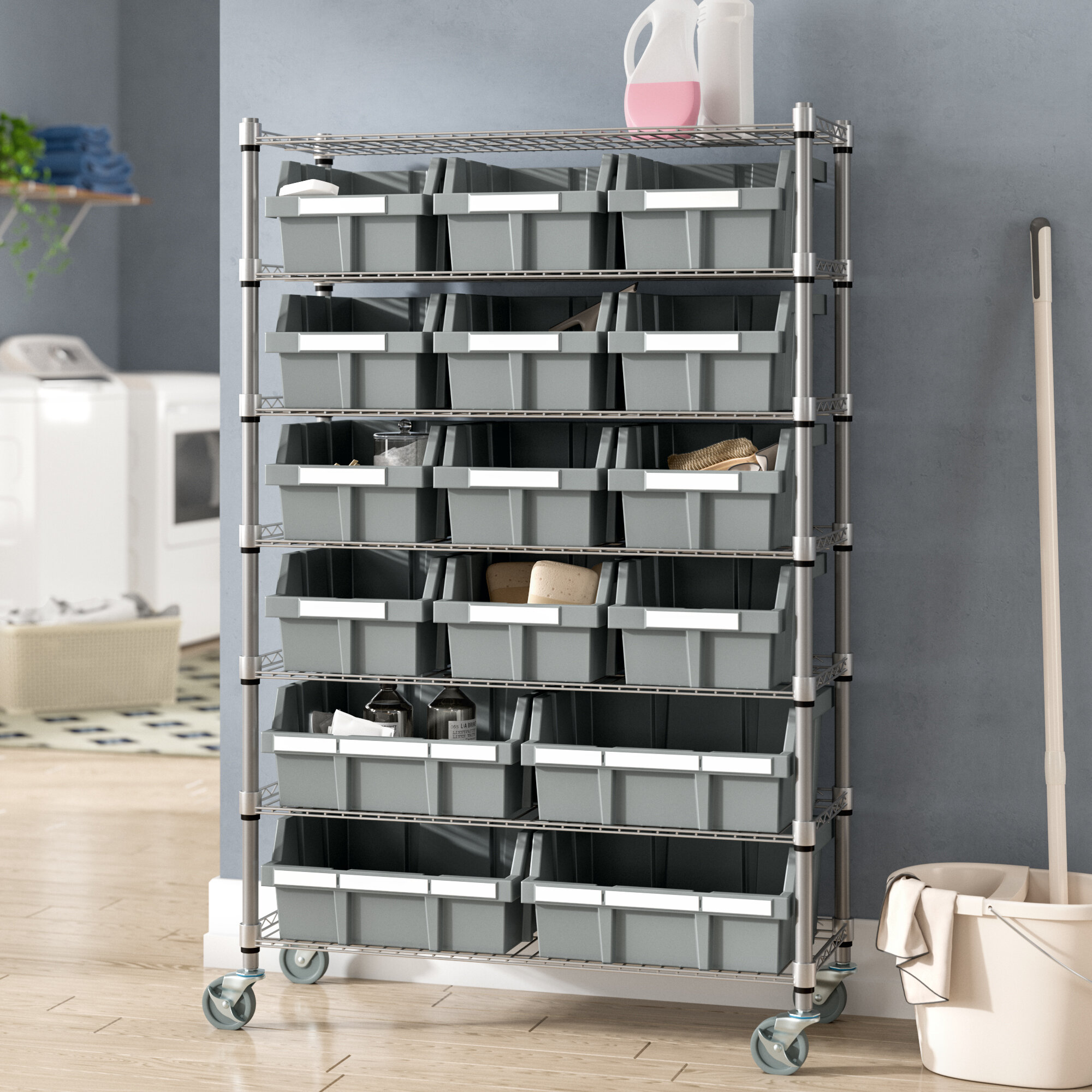 Rebrilliant 56 H X 36 W Deep Commercial Storage System