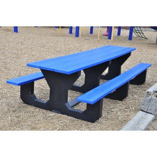 Frog Furnishings Toddler Recycled Plastic Picnic Table