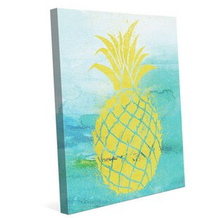 Tropical Pinele Painting Print On Wred Canvas