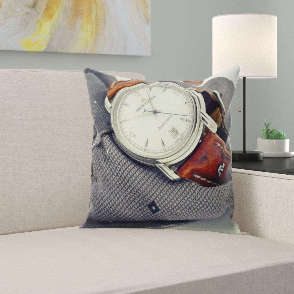 East Urban Home Wrist Watch Throw Pillow Wayfair
