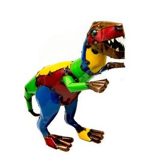 Rustic Arrow Velociraptor Statue