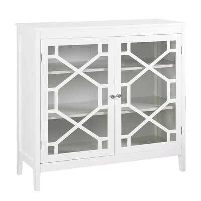 Friedlander 2 Door Accent Cabinet Color: White by Andover Mills